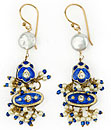 Casbah Dangles in inky blue