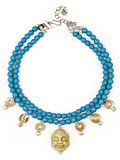 Buddha Necklace in blue