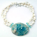 Curtain Bluff Necklace in blue