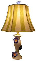 Dana Gibson Morning Glory Lamp