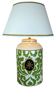 Dana Gibson Tole Tea Caddy Lamp