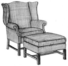 Yorkshire Chippendale Wing Chair