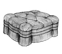 Tufted Tower Ottoman