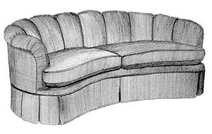 Paris Channel Back Kidney Sofa