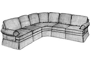 Customized SectionalsSeveral arm and base treatments are available. Most standard options apply.      Sleep Sofa Available.